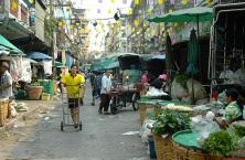 The Pak Khlong Talaat market, Bangkok