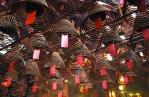 The incense spirals of Man Mo temple, Hong Kong